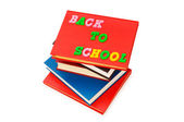 Back to school concept with books — Stok fotoğraf