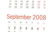 Närbild av september 2008 — Stockfoto