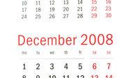 Närbild på december 2008 — Stockfoto