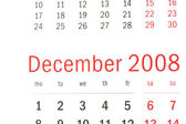Close up van december 2008 — Stockfoto