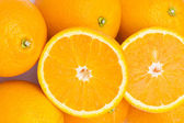 Close up macro shot of oranges — Stock Photo
