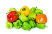 Bell peppers isolated on the white — Stock fotografie
