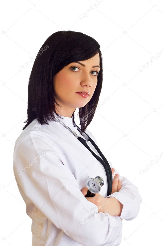 Female doctor isolated on the white background — Stock Photo #1972730