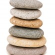 Stack of pebbles isolated on the white — Stock Photo #2524990