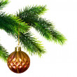 Stock Photo: Christmas decoration isolated