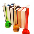 Royalty-Free Stock Photo: Books and tubes