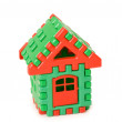 Small toy house isolated on the white — Stock Photo