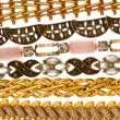 Various bracelets isolated on the white - Foto de Stock