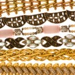 Various bracelets isolated on the white - Stockfoto