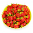 Red strawberries isolated — Stock Photo