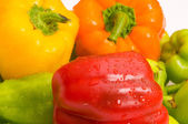 Bell peppers arranged — Stock Photo