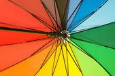 Close up of multi sector umbrella — Stock Photo
