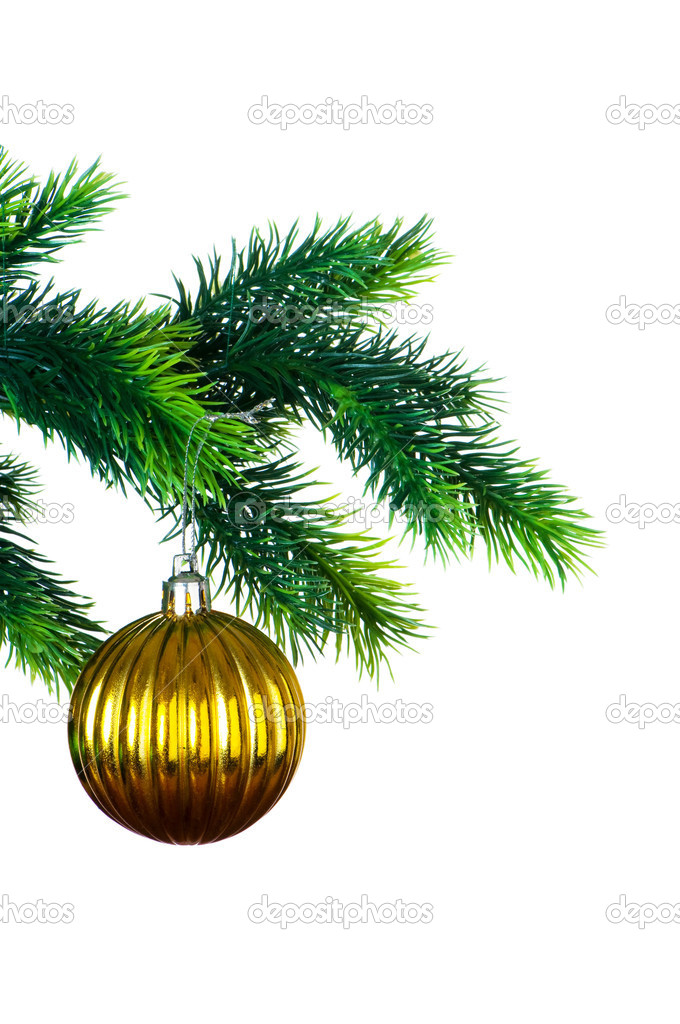 Christmas decoration isolated on the white background — Stock Photo #2524708