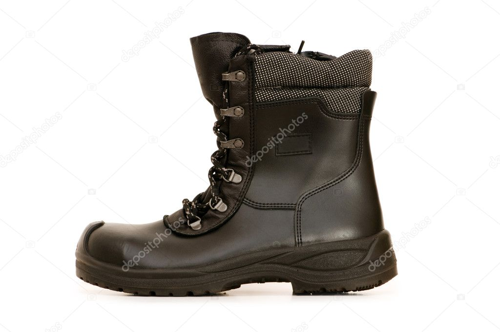 Heavy duty boots isolated on the white background — Stock Photo #2525700