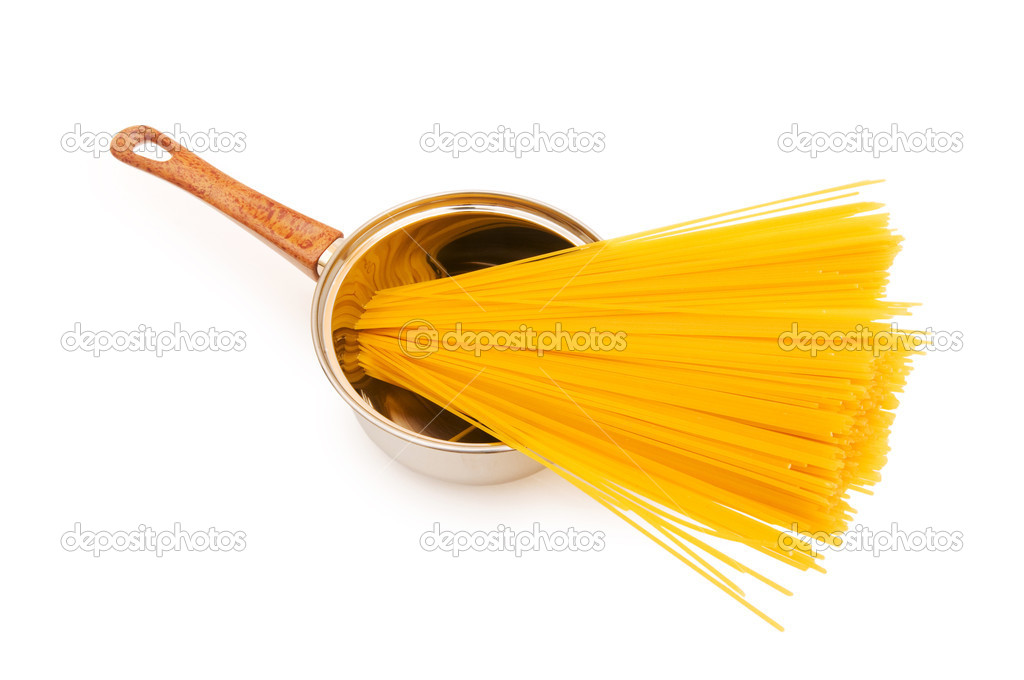 Spaghetti pot isolated on the white background — Stock Photo #2527188