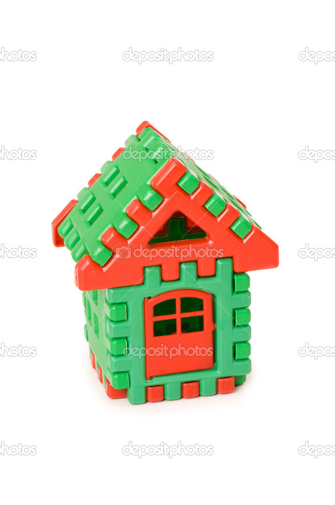 Small toy house isolated on the white — Stock Photo #2528856