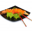 Sushi and crab isolated on white — Stock Photo #2604141