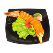 Sushi and crab isolated on the white — Stock Photo #2604357