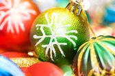 Kleurrijke decoratie van kerstmis — Stockfoto