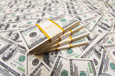 Background with many american dollars — Stockfoto