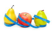Pears and apple — Stock Photo