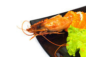 Sushi and crab isolated — Stock Photo