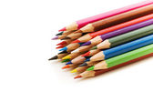 Lápices aislados de varios colores — Foto de Stock