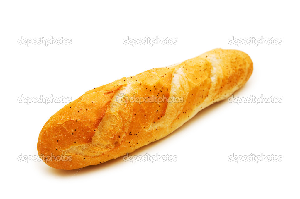 French baguette isolated on the white background  Stock Photo #2603593