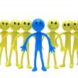 Stock Photo: Team of smilies isolated
