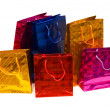 Colorful bags isolated on the white — Stock fotografie