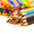 Various colour pencils isolated — Stock Photo