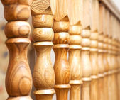 Row of columns with — Stock Photo