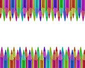 Tužky různobarevných izolované — Stock fotografie