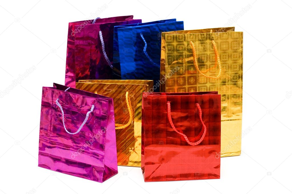 Colorful bags isolated on the white background — Stock Photo #2632871