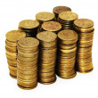 Stack of coins isolated on the white — Stock Photo #2649477