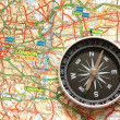 Compass over the map of UK — Stock Photo #2650309