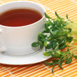 Royalty-Free Stock Photo: Cup of black tea and herbs