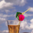 Cocktail with drinking straw — Stock Photo