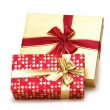 Two gift boxes isolated on the white — Stock Photo
