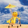 Smilie enjoying sun — Stockfoto