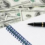 American dollars, ball pen — Stock Photo