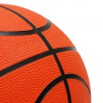 Orange basketball isolated on the white — Stock Photo