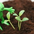 Stock Photo: Gardening concept - Smilie looking