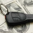 Royalty-Free Stock Photo: Car remote over the hundred dollars