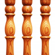 Wooden pilasters isolated — Stock Photo