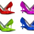 Woman shoes of four different colors — Stock Photo #2656004