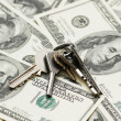 House keys over the hundred dollars - Stock Photo