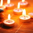 Candles and pebbles for spa session - — Stock Photo #2657793