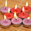 An array of candles for aromatherapy — Stock Photo