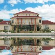 Stok fotoğraf: Big mansion and swimming pool